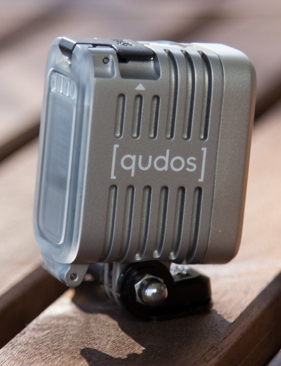 A waterproof aluminium casing means the [qudos] is built to survive the same challenging conditions as a GoPro