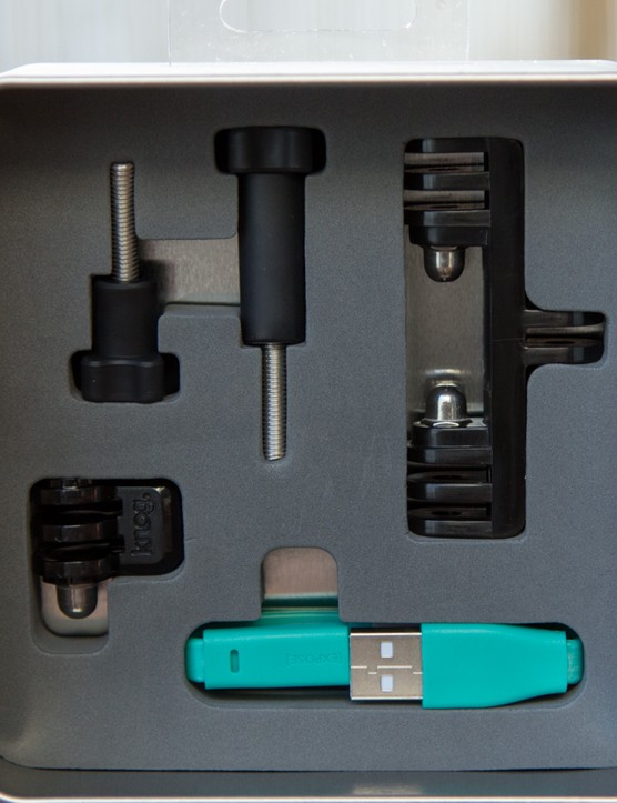 Included within the metal tin packaging is the GoPro bracket, a tripod + camera mount and USB charge cord - [qudos] to that