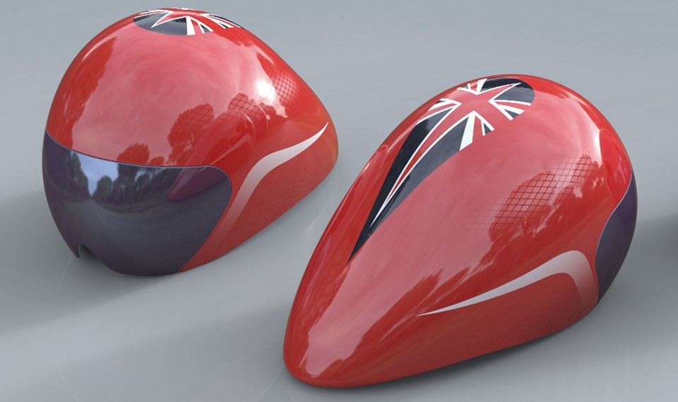 The Team GB helmet has been in development for three years