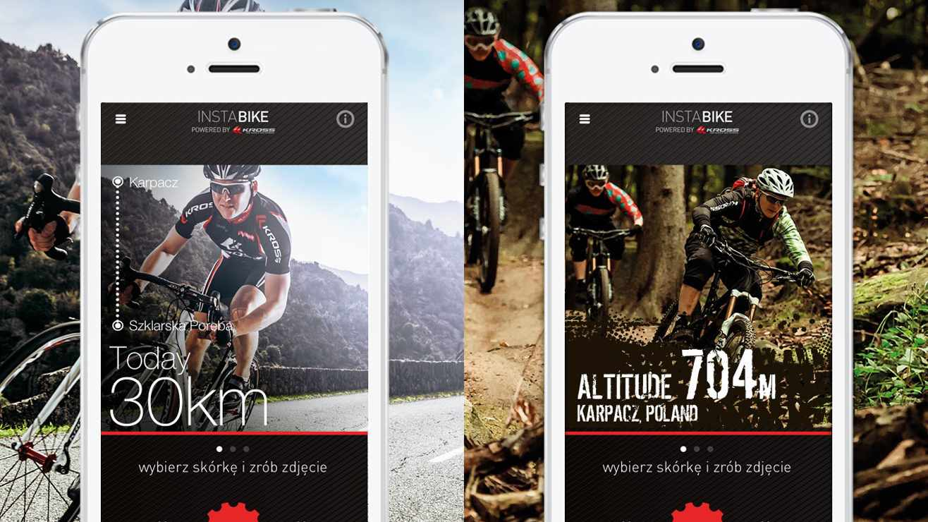 InstaBike is a new way of overlaying your bike pics for easy upload to social streams