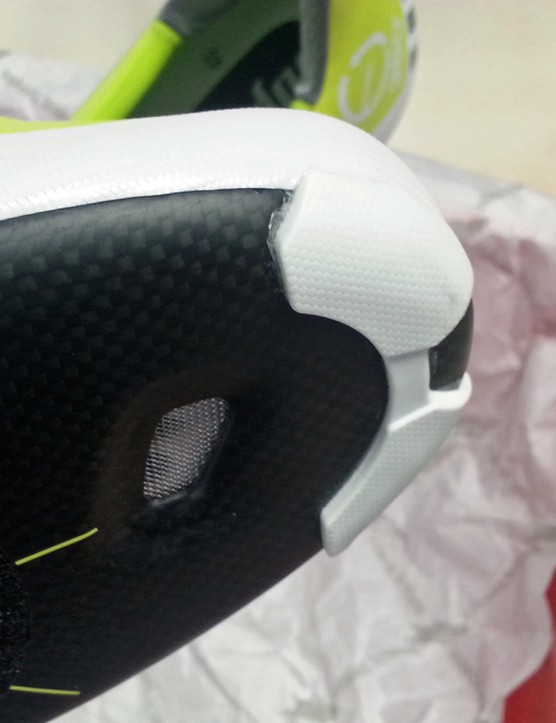 The shoes are protected from scuffs when pushing off by another grip on the front