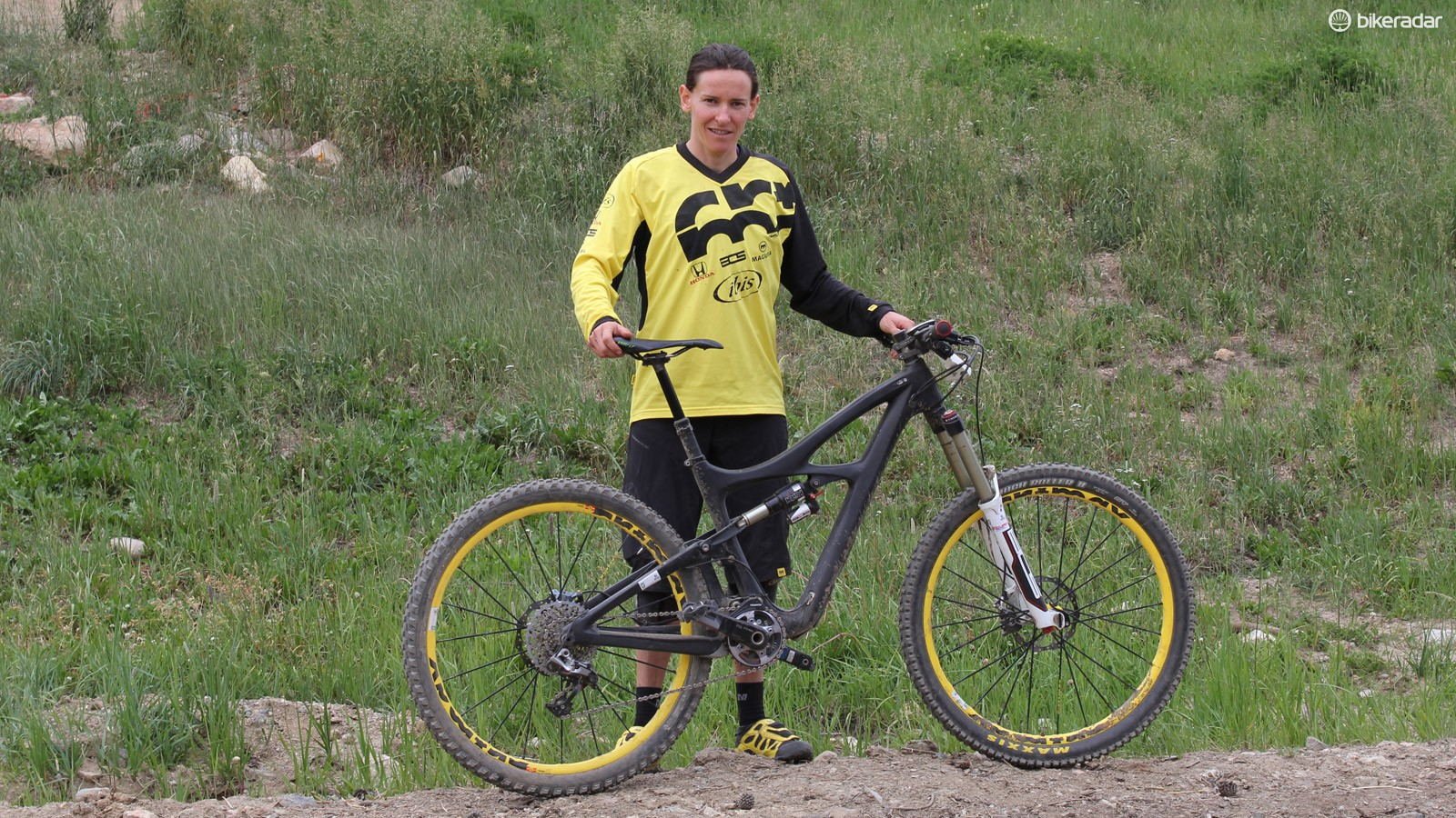 Anne-Caroline road this Ibis 27.5in prototype to a first place finish at last weekend's Enduro World Series stop in Winter Park, Colorado