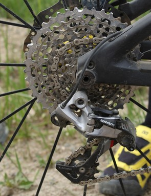 SRAM's XX1 group is popular with enduro racers for its wide range and durability