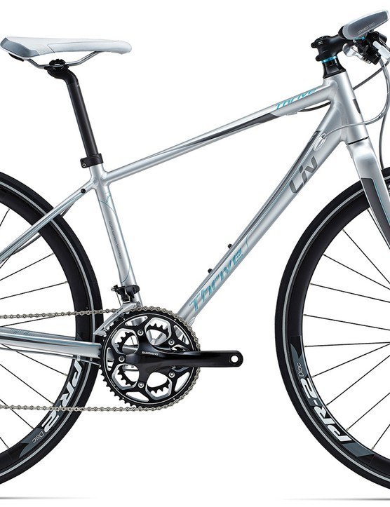 The Liv Thrive ranges offers many of the same features as the Thrive CoMax, but in a cheaper aluminium frame. The aluminium will be a little heavier and not quite as comfortable as the more expensive carbon composite option