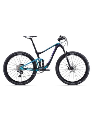 Sitting on the top step of Liv's mountain bike range is the LUST Advanced 0 (US$8,050 / AU$6,999 / £TBA), with its RockShox SID XX fork, SRAM XX1 11-speed gearing and, interestingly, a Giant Control SL Switch dropper seatpost