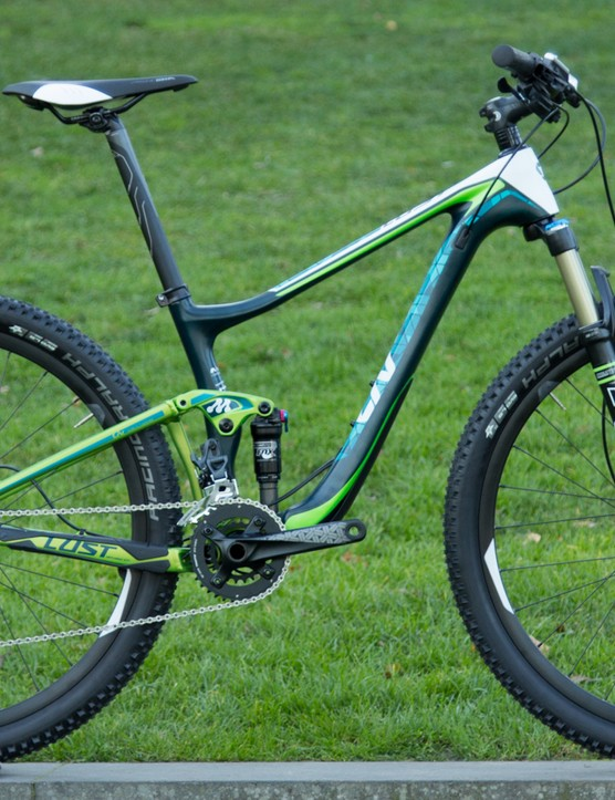 The Liv LUST Advanced 2 (US$3,600 / AU$3,299 / £TBA) looks like a high-value endurance and cross country bike. It has Fox Suspension and Shimano SLX/XT gearing