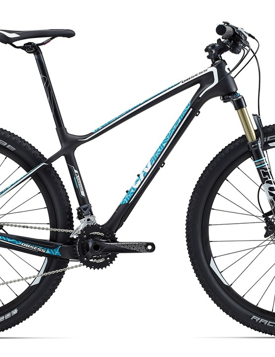 The cross-country race focused Obsess Advanced 2 (US$2,775 / AU$2,799 / £TBA) shares the same frame used by the professional Liv racing team