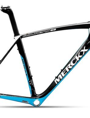 The new Mourenx 69 frameset in blue, black and white