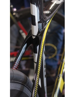 The seatstays flow into the seat tube with minimal fuss