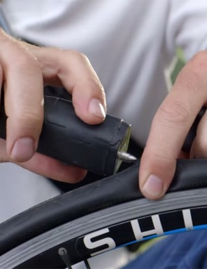 The Patchnride puncture repair tool in action