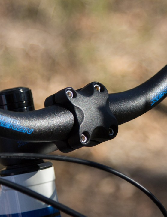 29in wheeled bikes already suffer from a high handlebar height –and the Xenon's is just made that much worst with its riser bar