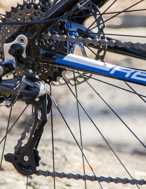 The Reid Xenon's Shimano Acera 27-speed gearing is hard to criticise at this price