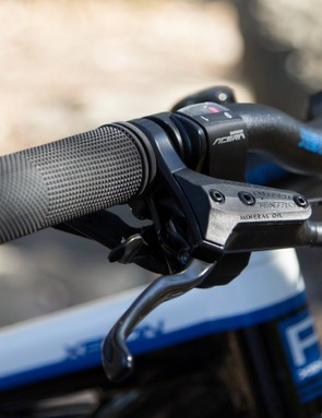 The Tektro hydraulic brakes are a reliable choice and offer greater braking control compared with a mechanical system. However, the the grips annoyingly twist around a fair bit