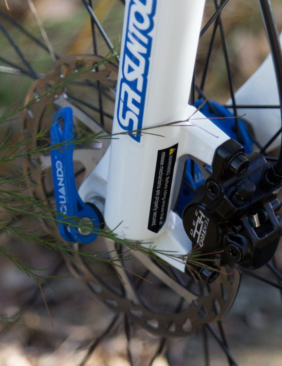 These quick release levers aren't great – take your time and make sure they're done up tight