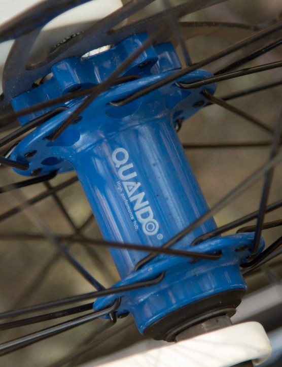Colour matched hubs are a nice touch on the Reid Xenon 29er Disc