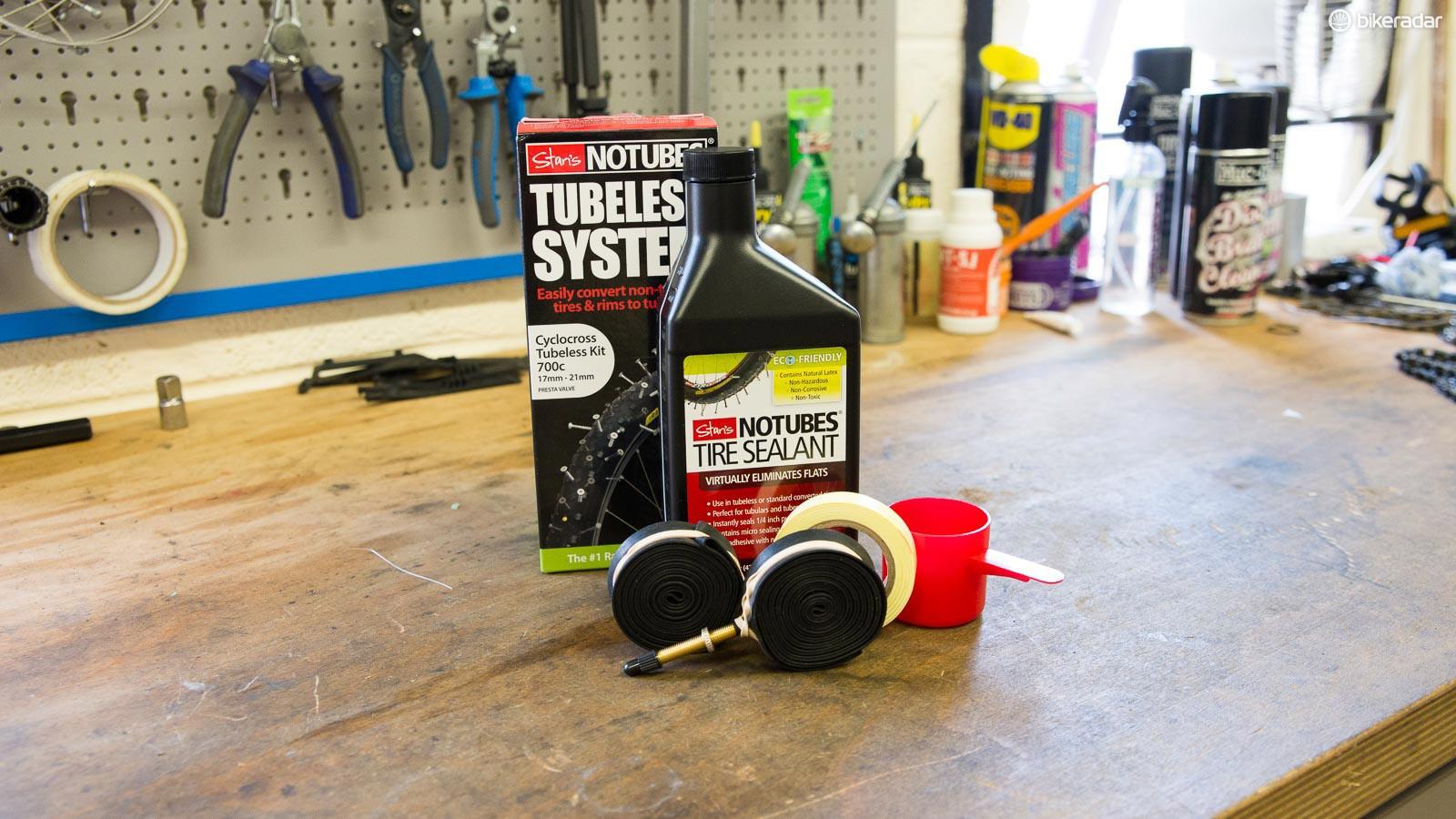 Stan's No Tubes cyclocross kit