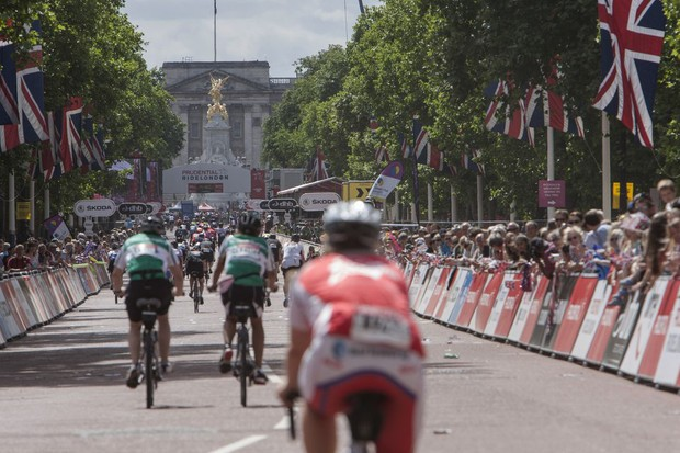The finish on the Mall gives a satisfyingly spectacular end to the 100-mile ride