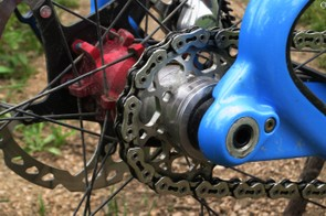 Niner makes cogs in titanium (shown here) as well as aluminum