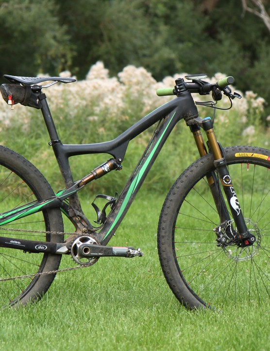 My bike of choice for the 111km-long Laramie Enduro was a custom built Ibis Ripley