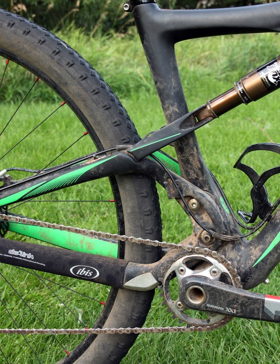 Although some might consider 120mm of travel overkill for what is essentially just a very long cross-country race, I felt the dw-link design was so efficient that there was no drawback over a shorter-travel setup