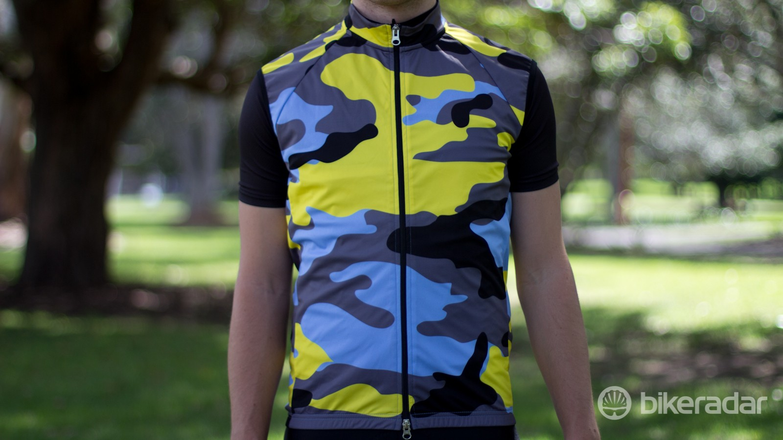 The Wind Cheater comes in a bold camouflage design –among plent of others
