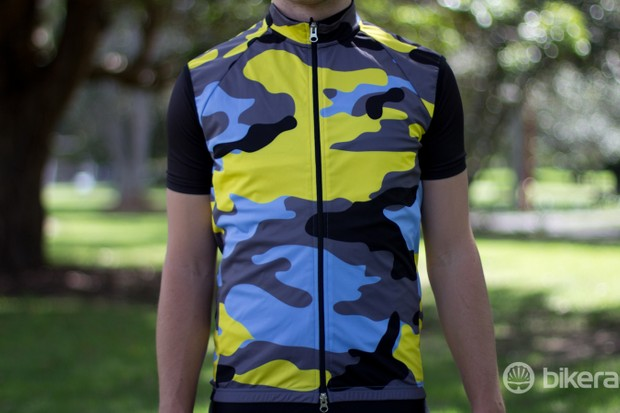 The Wind Cheater comes in a bold camouflage design – among plent of others