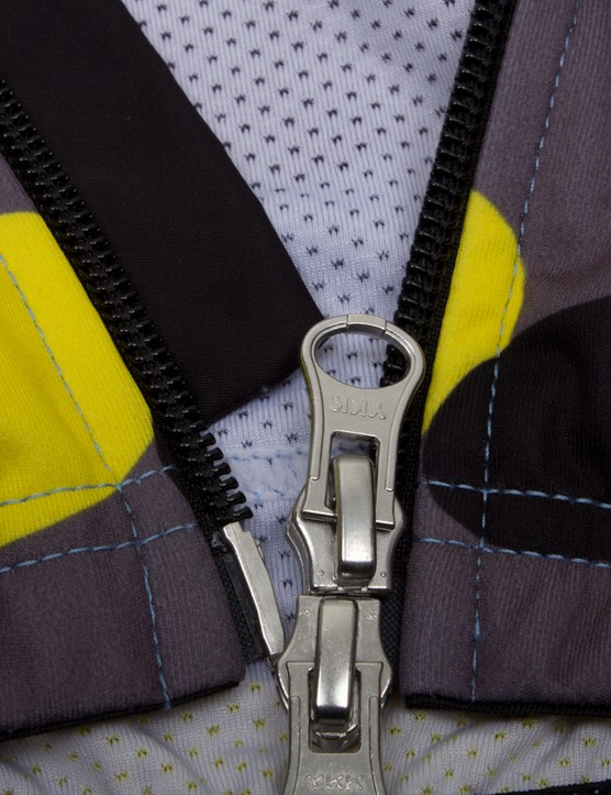 The two-way open zipper can be a pain to operate with gloves on