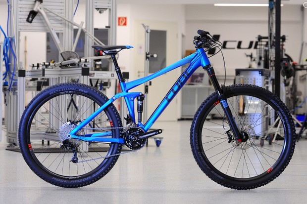 Cube's new 140mm travel 650B Stereo HPA Aluminium. The RockShox Pike equipped model has a spec that's heavily aimed at harder UK trail riders