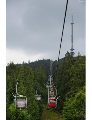 We headed to a small German DH track with a council-run chairlift to check the 140mm travel bike's performance. A lot of development on the bikes happened here, only a 20-minute drive from Cube's headquarters