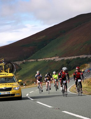 The Etape Cymru's closed roads give a real pro tour flavour