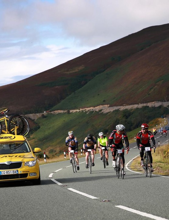 The Etape Cymru's closed roads give a real pro tour flavour