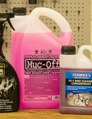 Concentrated bike cleaning solutions will need to be diluted