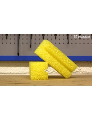 A chain cleaning sponge can make cleaning your chain easier