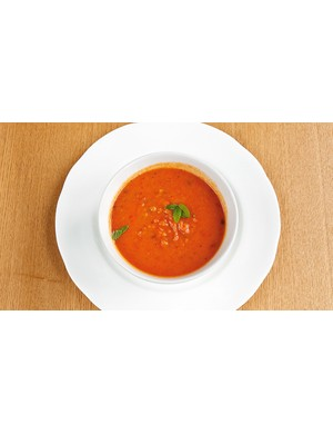 Soup, such as this lentil and tomato variety, is a great way of getting loads of nutrients and vitamins in one pot