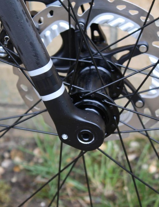 Each Grade model gets a 15mm thru-axle equipped fork
