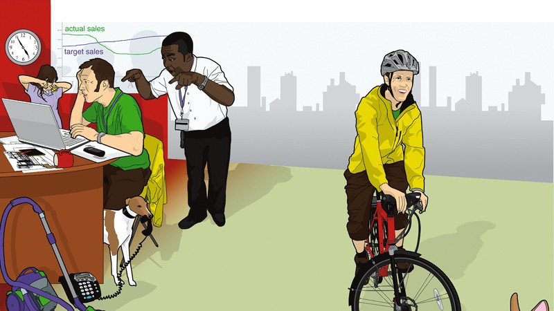 Get on your bike to de-stress