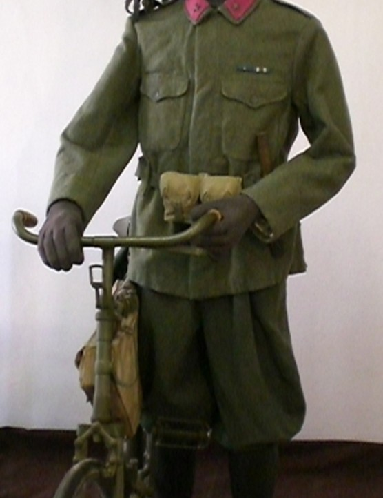 An example of an Italian Army cyclist during the Great War, in the Budapest Military Museum