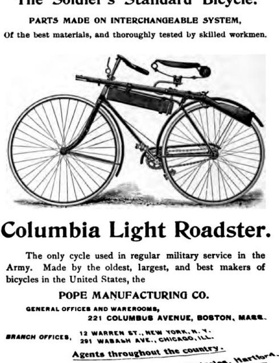 A pre-war advertisement for the American Columbia bicycle