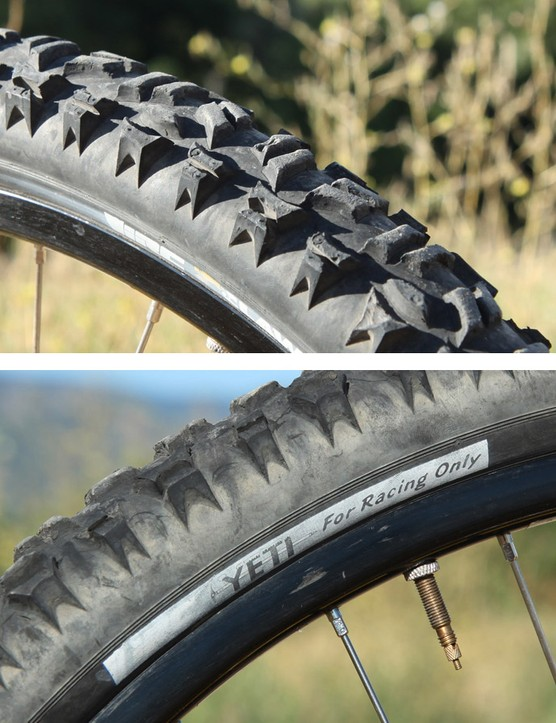 IRC made special versions of its Claw Comp tire just for Yeti