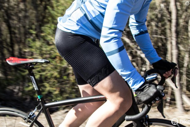 """Plain black, quick luxury'' was the brief the Santini designers received for the Racer bibs"