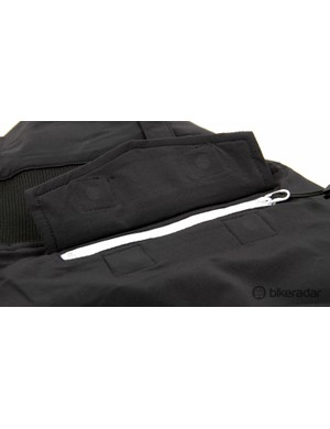 A look at the secure rear pocket which features a zipper plus a magnetic flap