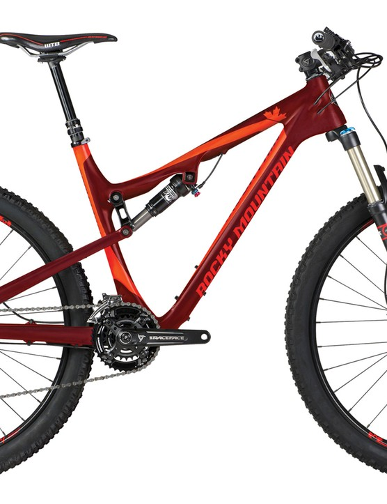 The Rocky Mountain 770 MSL (US$5,499) offers a Shimano XT and XTR groupset, Stan's Crest Tubeless-ready wheelset and plenty of Race Face parts