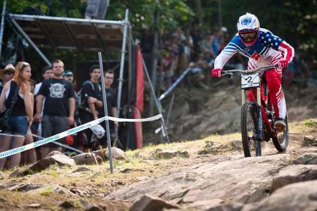 All eyes will be on America's Aaron Gwin to take the win on home soil