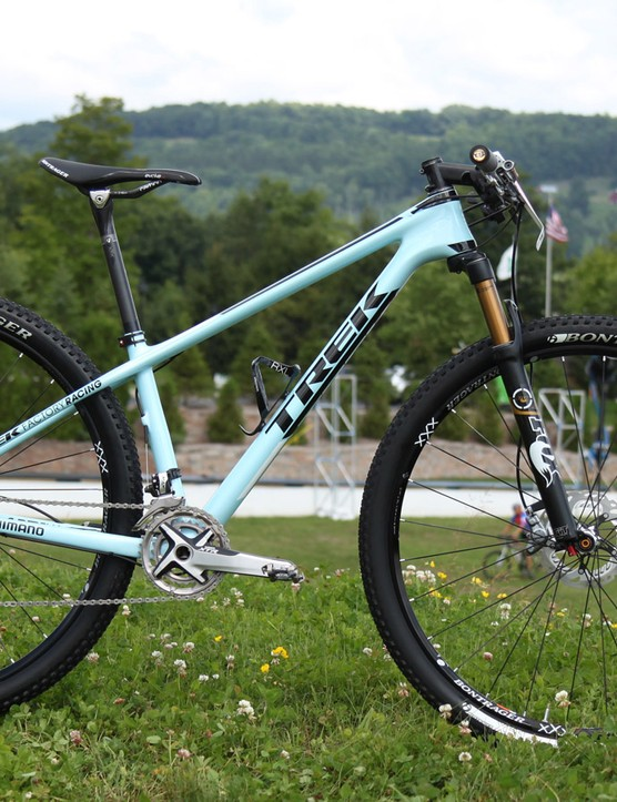 Emily Batty (Trek Factory Racing) recently completed a Canadian one-two at the Commonwealth Games with fellow countryman Catharine Pendrel (Luna). Batty races on a Trek Superfly carbon 29er hardtail