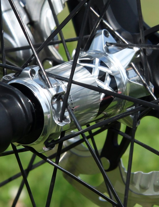 Bontrager's latest wheelsets use so-called 'stacked' spoke flanges to widen the bracing angles