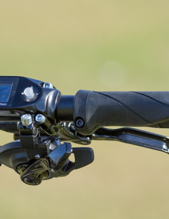 The Specialized Turbo has an interface unit that controls the riding modes, along with offering regular cyclocomputer functions