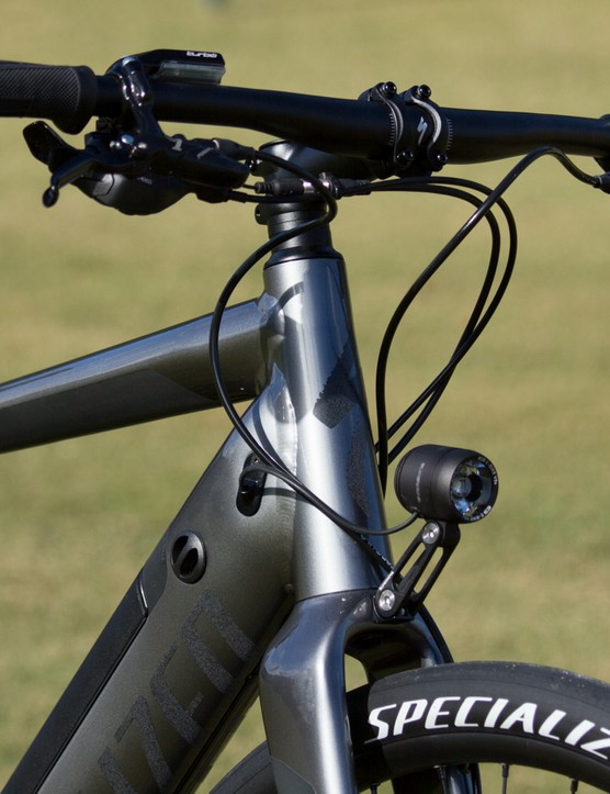 The Specialized Turbo features integrated lights front and rear