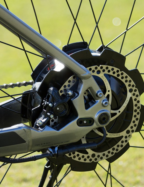 Good disc brakes are important on a bike with high-speed and plenty of weight