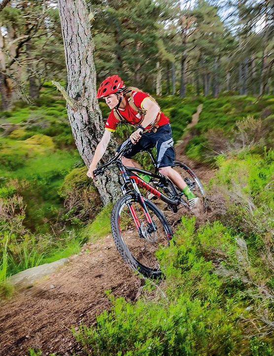 There's ample steering speed and authority to get stuck into twisty technical singletrack