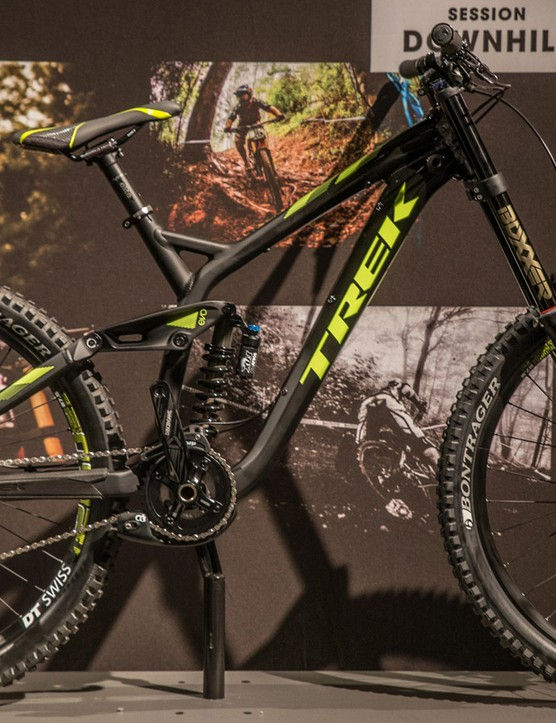 The Session 88 shares the same geometry as Trek's flagship downhill racer in a redeisgned alloy frame
